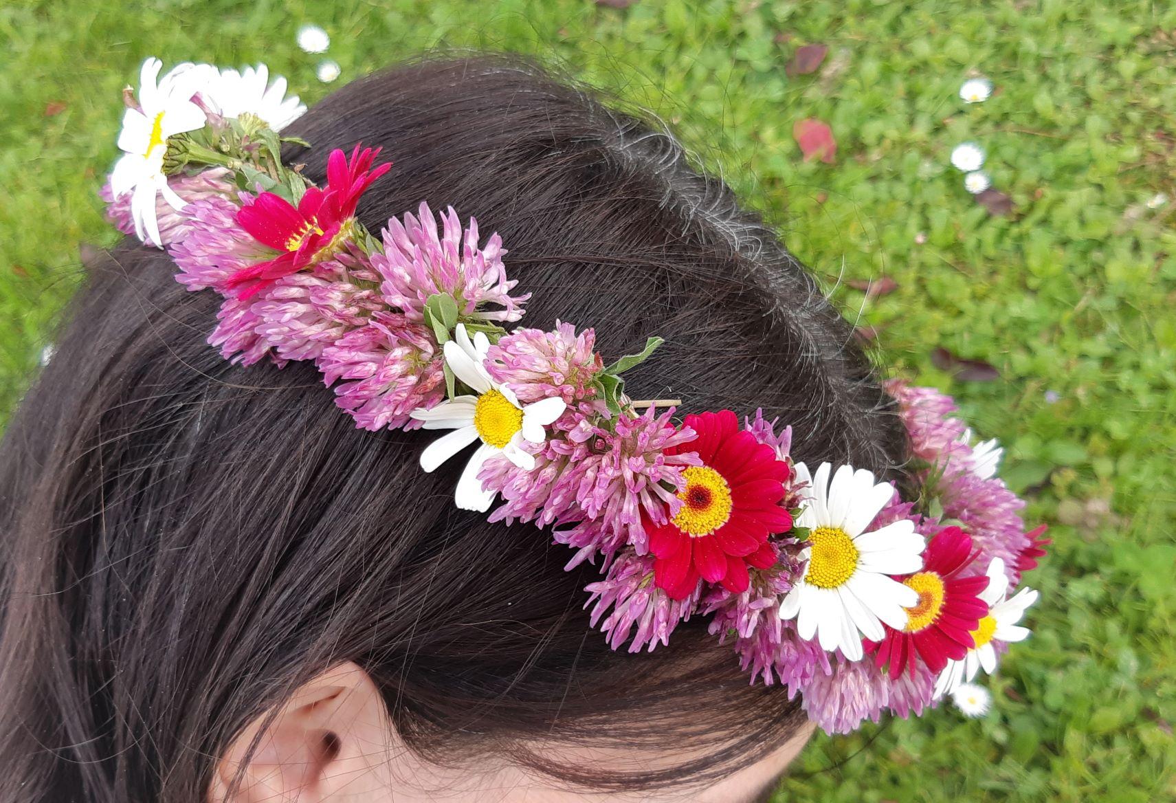 Blütenkranzerl fürs Haar